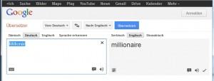 Millionär Übersetzung