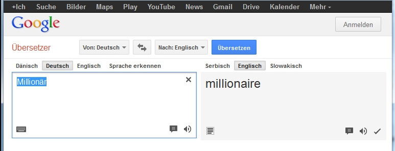 million r bersetzung in andere sprachen millionaire On deutsch englisch google