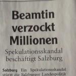 Millionen in Schlagzeilen