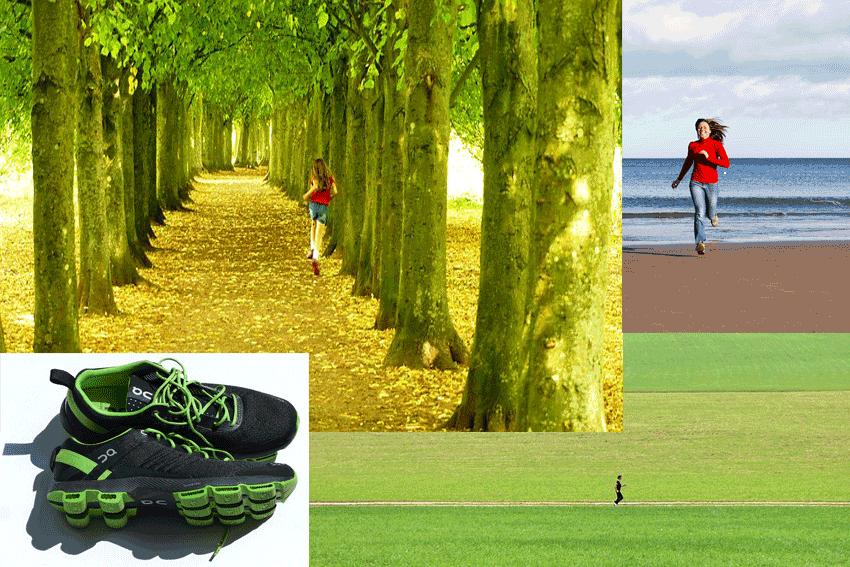 Sport und Laufen macht glücklich
